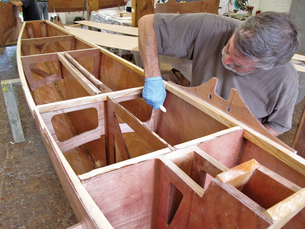 Chesapeake Light Craft of Annapolis, Maryland, supplies kits with pre-cut parts for the boat's stitch-and-glue hulls, which are relatively easy to build.