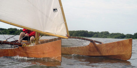 The Outrigger Junior is a modern adaptation of a Pacific canoe