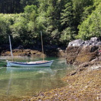Anchoring the Caledonia yawl