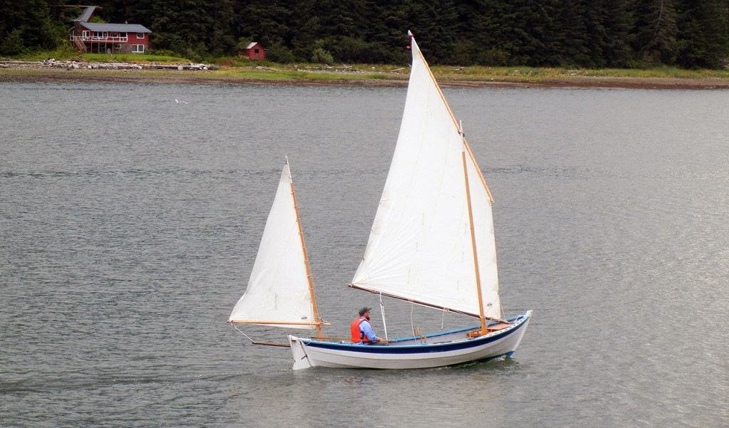 The Caledonia yawl's well mannered hull and simple lug rig made it easy for us to learn how to sail.