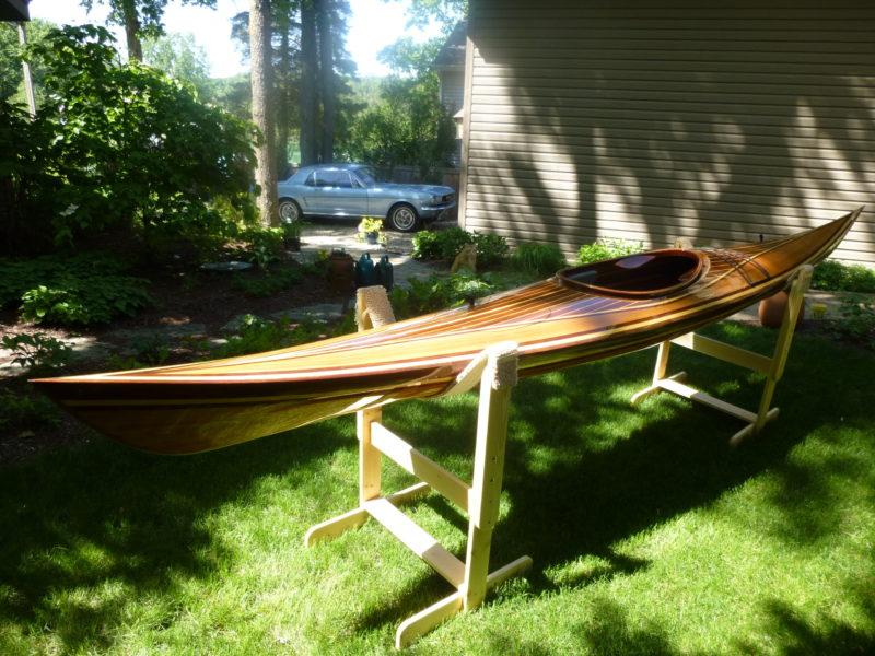 strip built Spring RUn kayak`