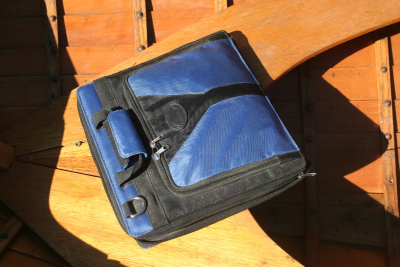 The SunVolt folds up into a carrying case