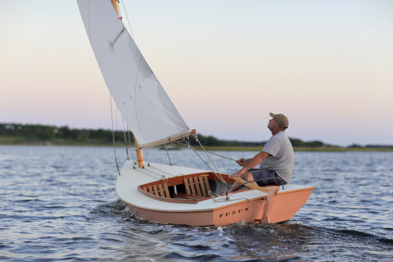 Author Christian Smith revels in the simple joy of sailing a Friendship Cat.