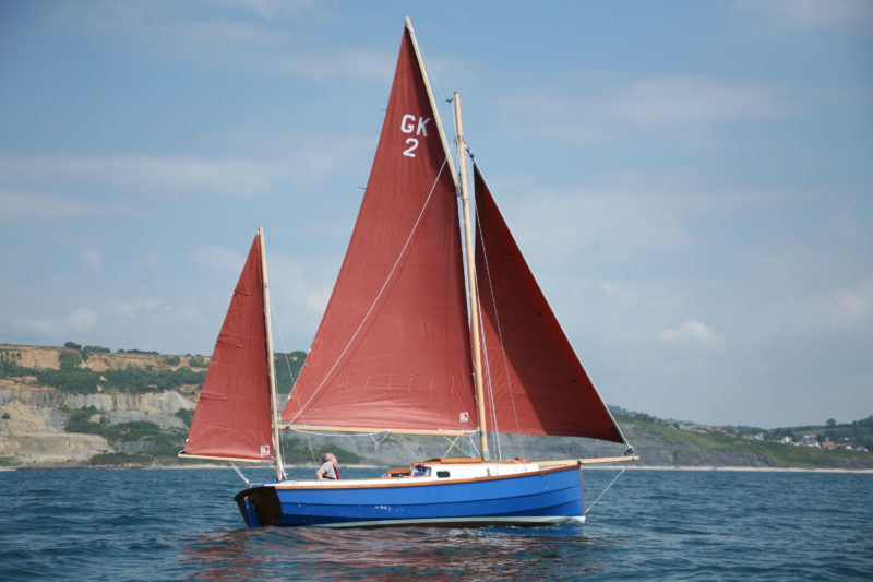 The Golant ketch caries 235 square feet of sail.