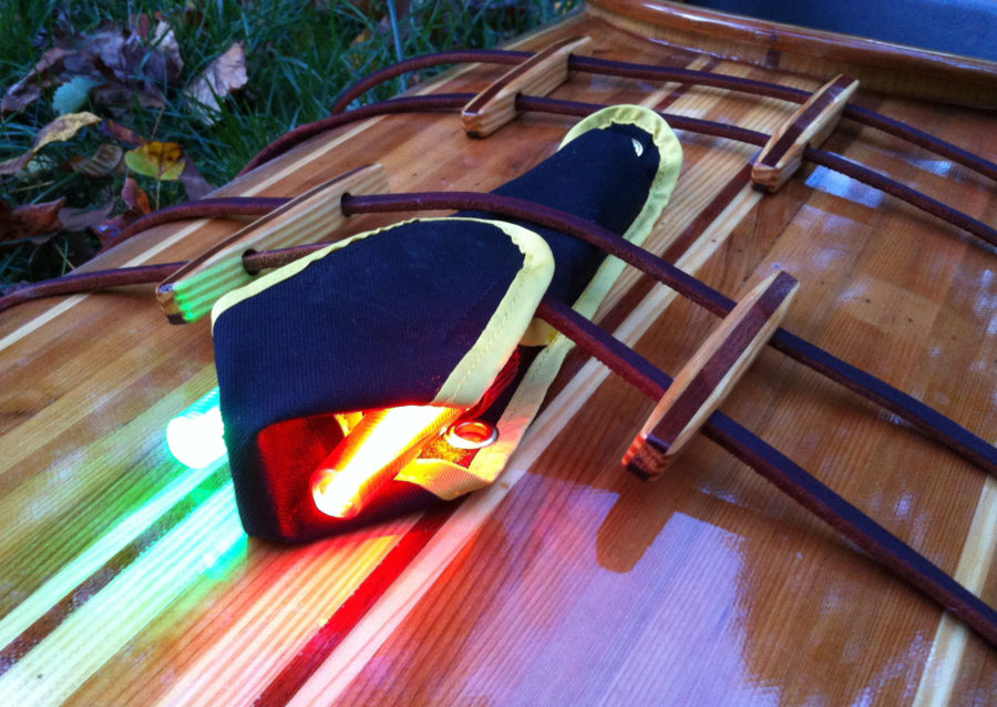 The Navlite includes port and starboard light secured in a case that can be folded to provide a baffle between the lights. It also minimizes the glare for a kayaker looking over the foredeck.