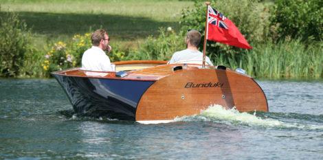 BUNDUKI, built to John Georgalas's Deep V 16' design, is a descendant of WYNN-MILL II, a legendary raceboat that gave rise to the speedboat company Donzi Marine.