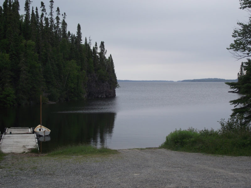 "The South Bay boat ramp is one of the busiest launching sites on Lake Nipigon. Of course, in northern Ontario, ""busy"" is a relative term."