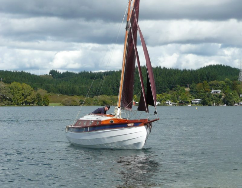 WHIO's bulder, Ralf Schlothauer, sails Lake Rotoiti, a 9-mile long mountain lake on New Zealand's North Island.