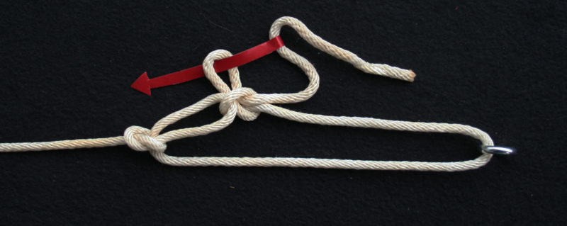 You can guard against the slipped half hitch from shaking out by slipping a second bight into the first and pulling it tight. A pull on the bitter end will still release the hitch.