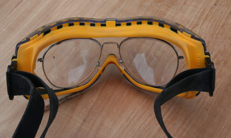 I need reading glasses for close work so I modified a pair to fit inside the Concealer goggles.