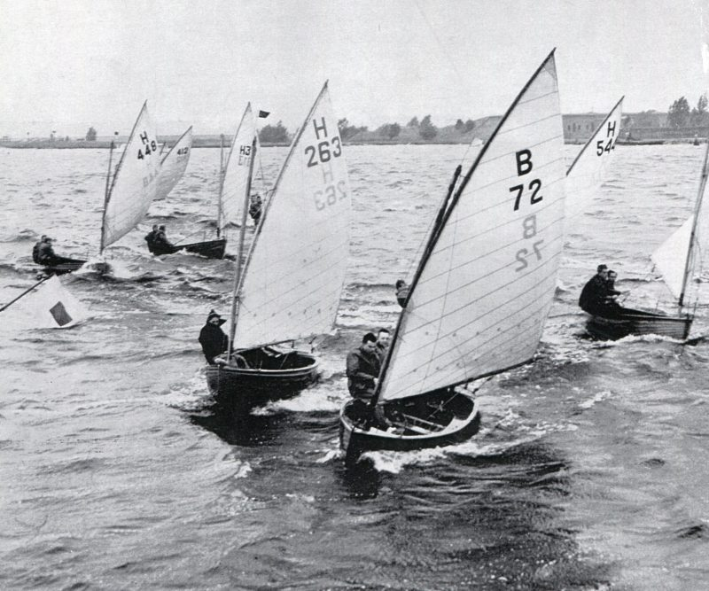 The scene of racing in the 1950s on a lake near the city of Haarlem in the Netherlands is very much the same as it is now.