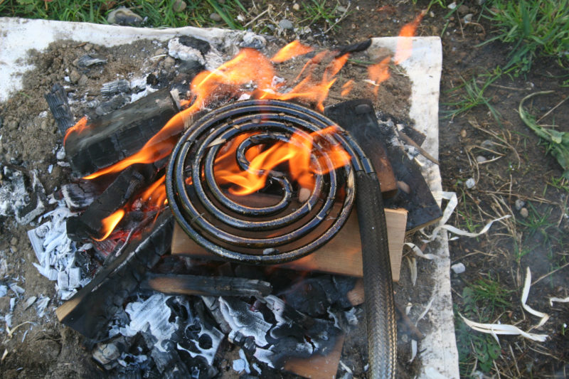 This ShowerCoil system is fantastic! With a fully stoked fire and a bit of practice