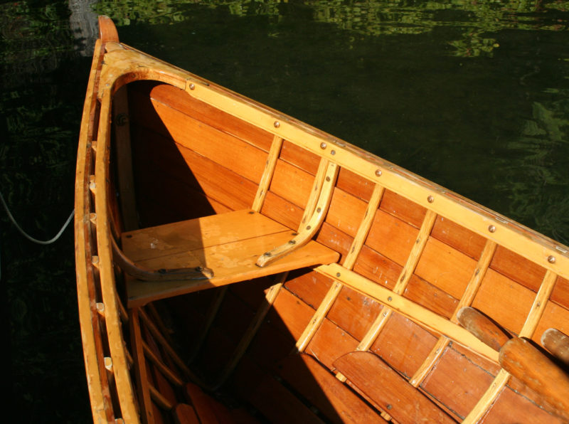 Lightly built, the livery boat makes rowing a pleasure.
