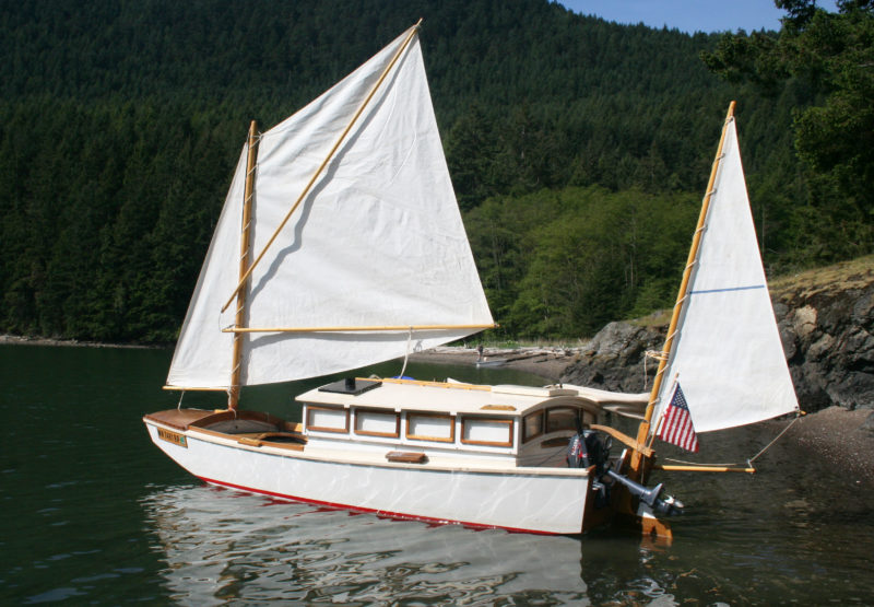There wasn't a breath of wind when I left Eagle Harbor, but I set sail and motored to find a breeze.