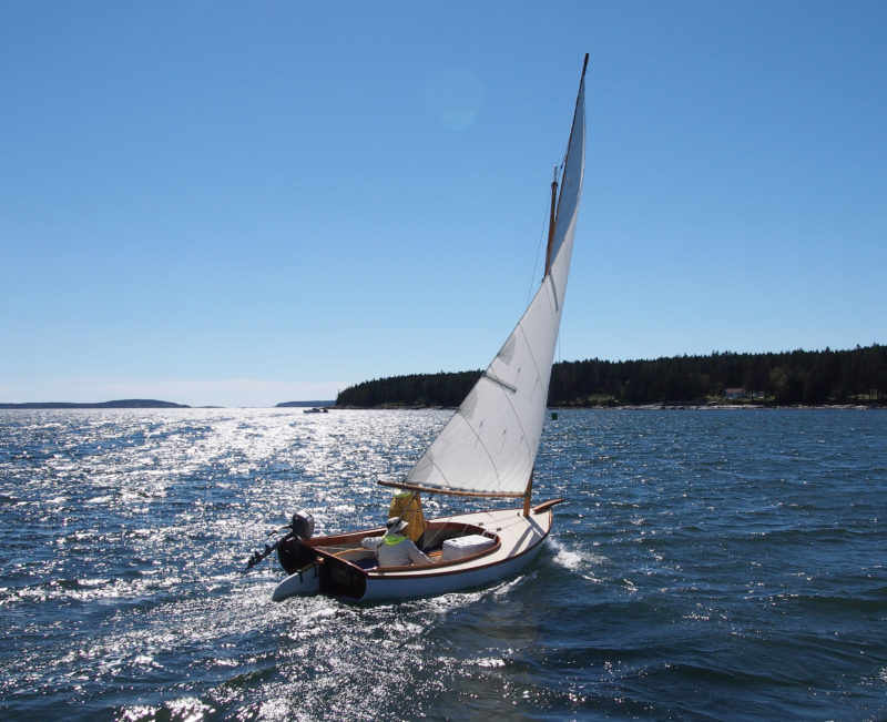 Sailed level, the Marsh Cat has very little weather helm and can clip along at 5 to 6 knots.
