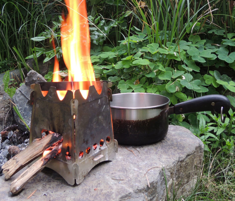 any larger than the pot it's heating. The Emberlit keeps the fire small and contained, minimizing the impact on the wilderness.