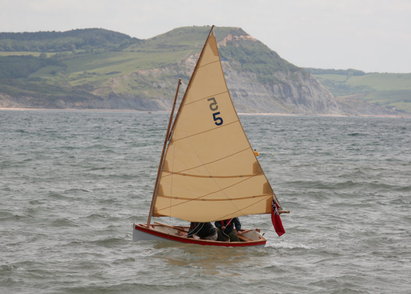 The Mallard, TUCANA, was the only boat to brave wind and open water on launch day.