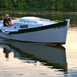Designer Karl Stambaugh found the inspiration for his Redwing 18 design in the Camp Skiff designed by Howard Chapelle.