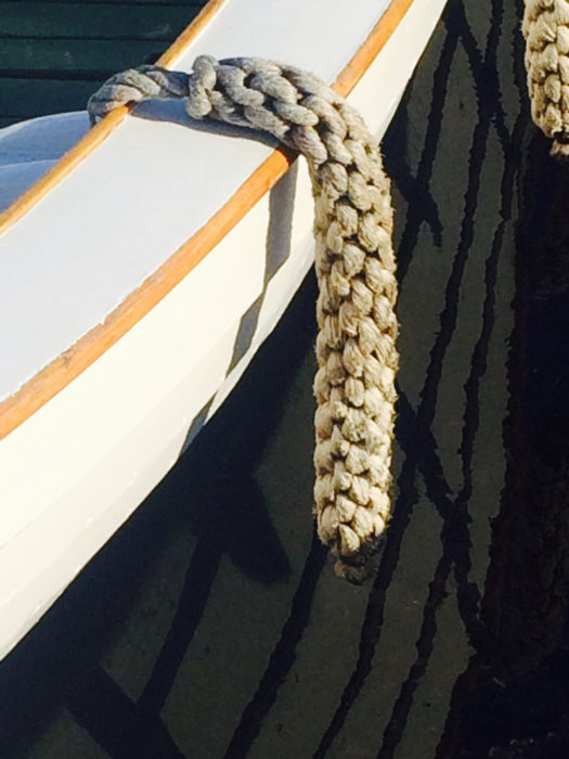 When made and installed properly, the fenders will protect the sheer and resist riding up out of place when boats jostle against one another.