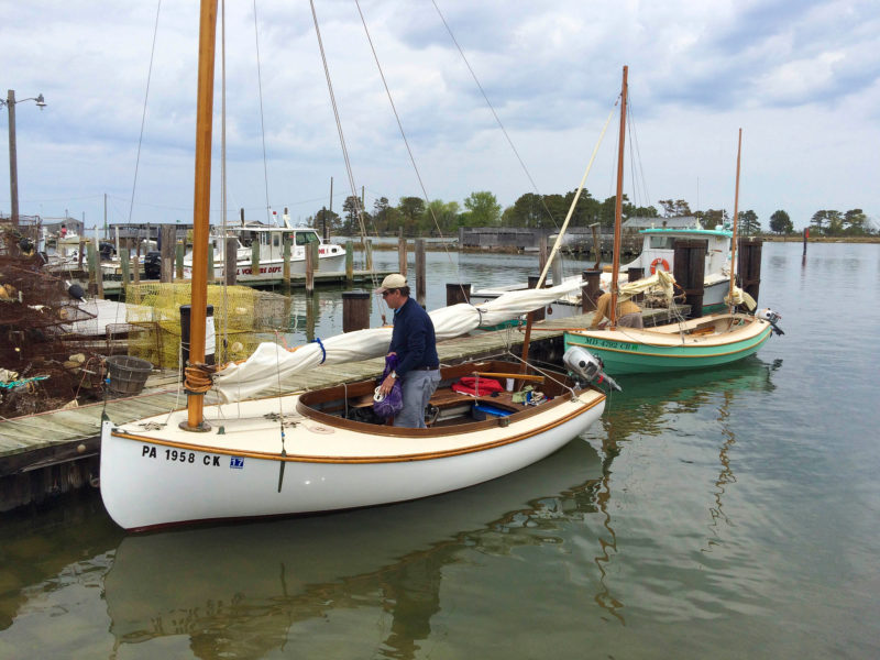 OBADIAH and SLIP JIG arrive at the canoe dock in Ewell.