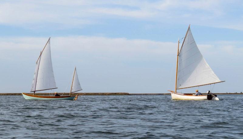 UNA and LITTLE T take advantage of the breeze in the Big Thorofare.