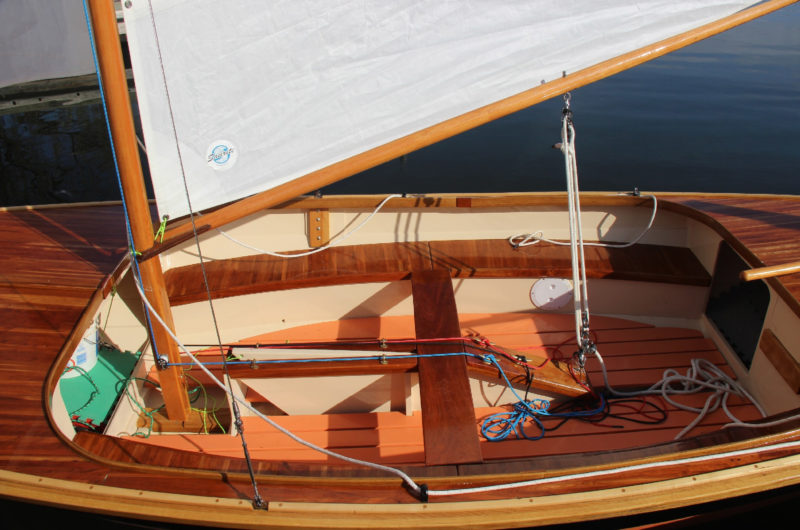 GOOD'NUFF's sheets and halyards are all led aft to ease single-handed sailing.