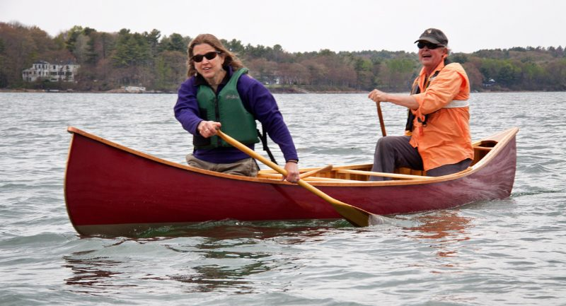 The White Guide is at its best with two paddlers. I'm paddling with fellow Downeast TSCA member Betsy Miller Minott