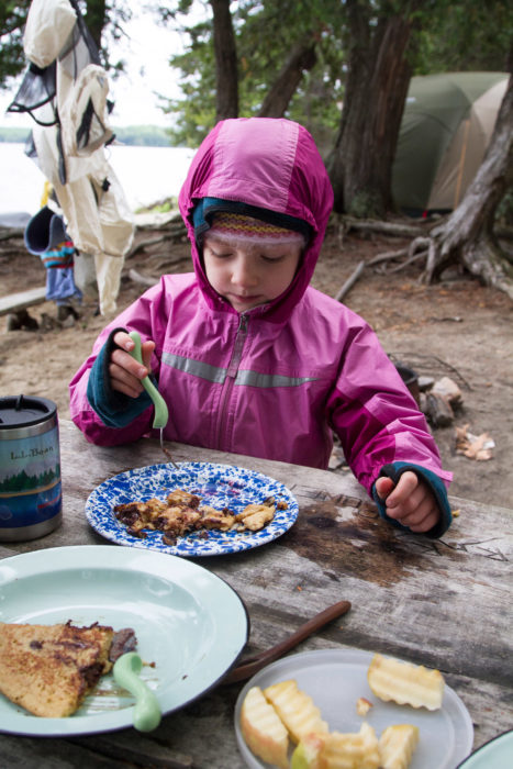 Good food was appreciated by everyone, and definitely helped sell the kids on the trip. Whether it was chocolate-chip pancakes on an overcast morning or Dutch-oven pizza for dinner, mealtime made everyone happy.