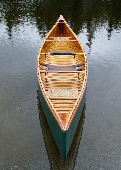 Back when I frequently paddled TINTIN solo, I used an Original Saddle Seat. Designed for open-gunwale canoes, it is as handsome as it is useful and a perfect seat for children.