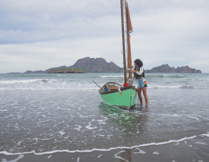 Furling sail after riding the surf in on our first day out, I looked at the wind driven waves and wondered what conditions were to come. We had scheduled the voyage around our outside lives and responsibilities rather than weather patterns, but later locals all agreed that December was notoriously windy in the Sea of Cortez.