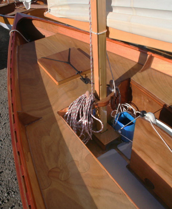 The storage compartments in the bow and stern provide a total of 12 cu ft of storage space.