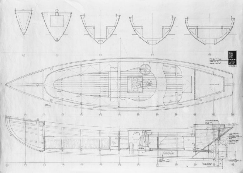There is no record of the original Hammond power dory's interior so Rann was free to draw it as he wished.