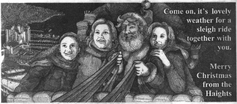 The Haight's Christmas card for the year 2000
