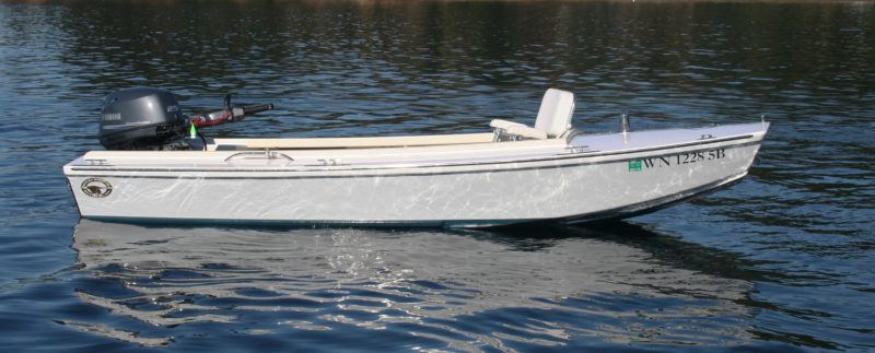 At rest, the Cackler offers a stable platform for fishing or hauling pots.