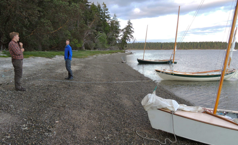 Hope Island State Park's primitive campground and lack of dock make it a quiet stopover for small, beachable boats.