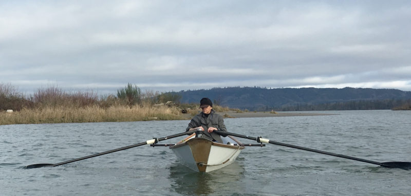 Poised to head out around the sand spit at the downstream end of Puget Island, I started the day's rowing, as I always do when leaving land, by focusing on my surroundings, boat trim, the plan for the day and the fit of my derriere on the seat.