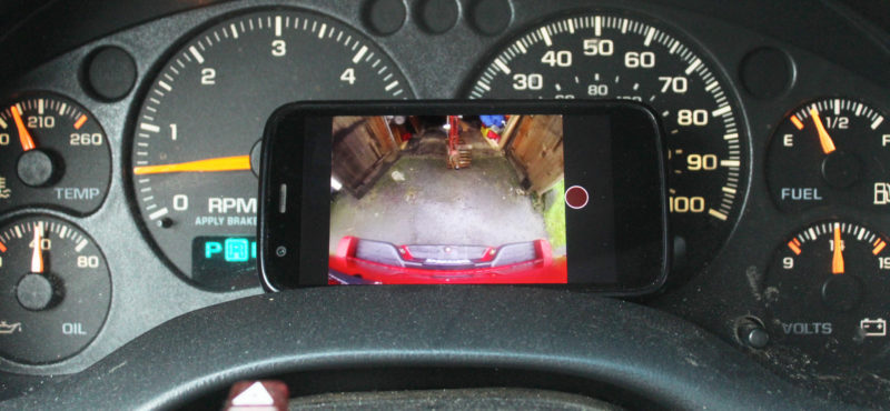 A smartphone with a Bluetooth connection to the GoPro serves as the monitor.
