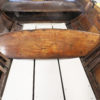 This full footboard is in a late 19th-century wherry built in Shrewsbury, England. Four slats offer three positions to adjust for leg length.