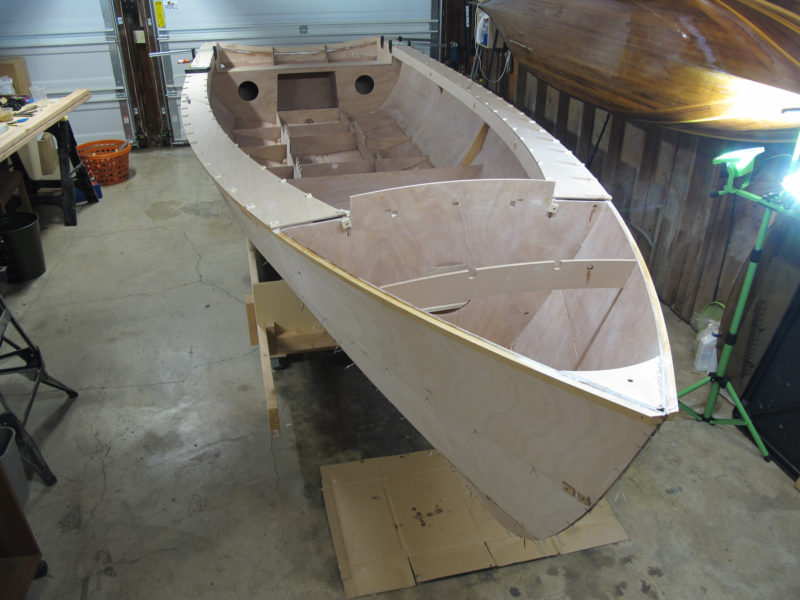 CNC-cut tabs, slots and notches assured a fair and symmetrical hull.