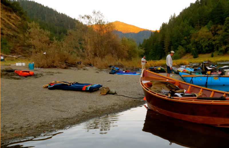 The view of the sunset up river from our camp below Tyee Rapid was stunning as the shadows crept up the mountains and dusk overtook the day.