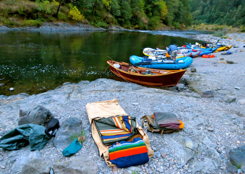 Our last night on the river was a rocky camp site but a good one. My folding cot kept me elevated just enough so I hovered just above the rocks and slept comfortably in my old-school wool blankets and cowboy bedroll.