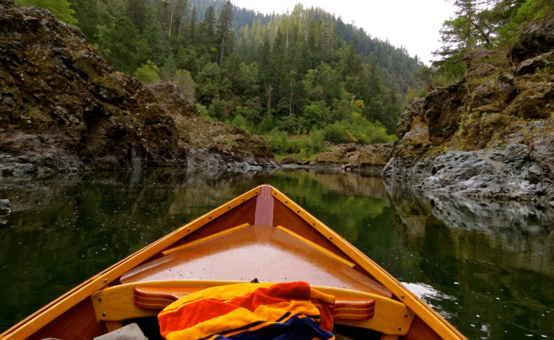 The calm of Kelsey Canyon creates a nice opportunity to get lost in the steep mossy walls, the deep green of the towering trees, and the emerging colors of fall on the hills looming over the river.