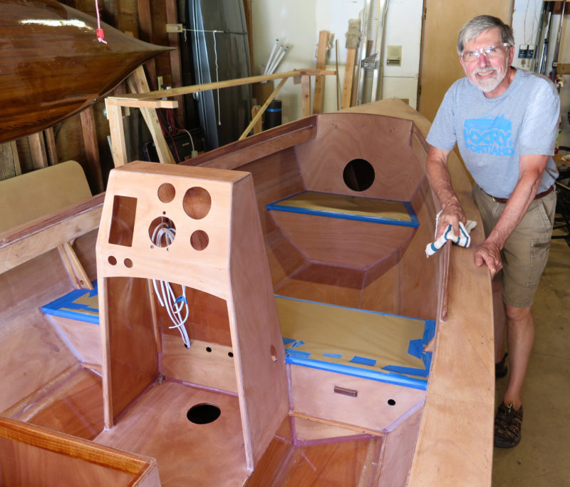 After Mark finished building the boat he got it prepped for a professional painter to apply the finish.