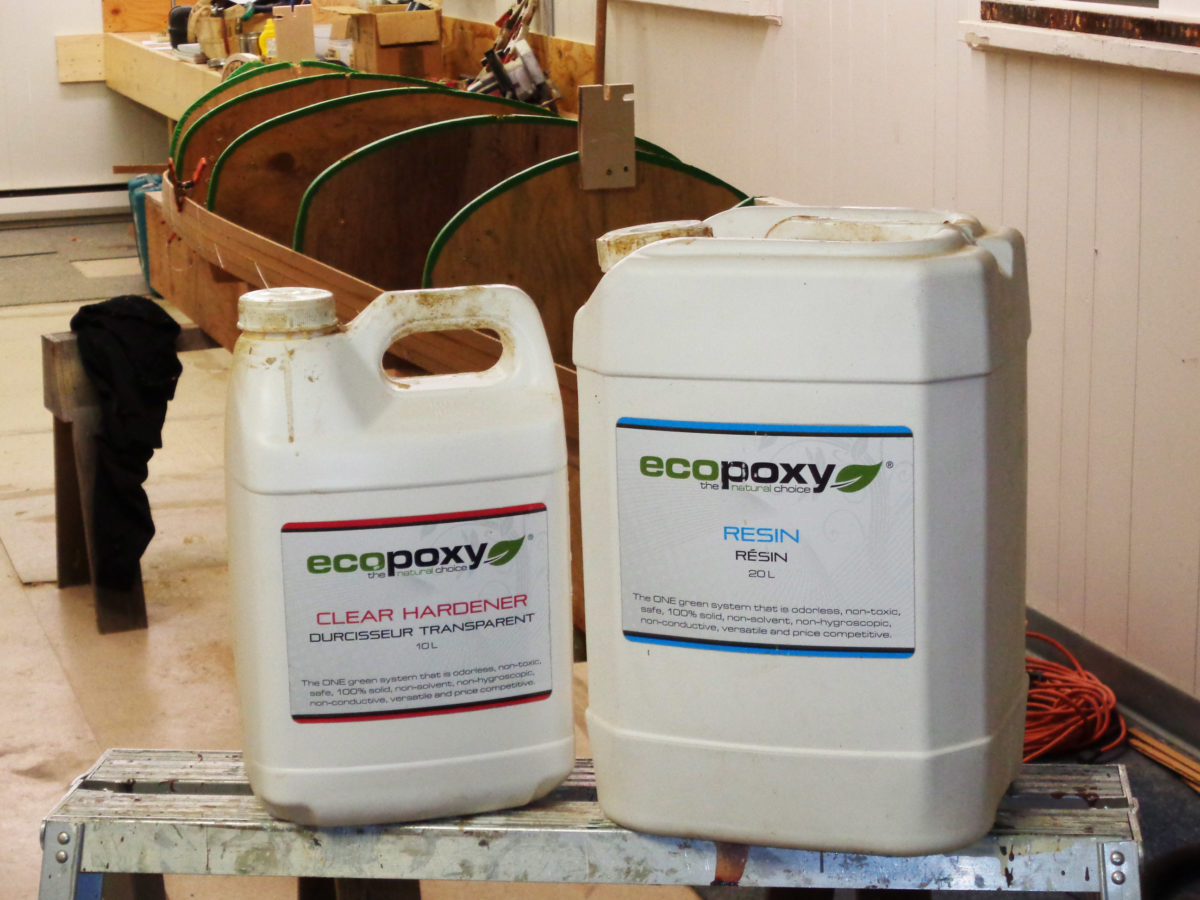 The plant-based ingredients make up over 50% of EcoPoxy content, far higher, according to the manufacturer, than other epoxies moving way from petroleum-based materials.