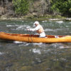 A stout ski pole offers a way to pole upstream in the shallows while kneeling rather than standing in a canoe.