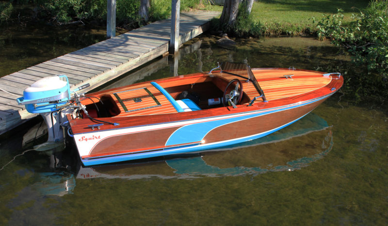 The plans call for fiberglassing the deck, but adding mahogany covering boards and thin decking for appearance's sake, gives the Squirt the look of a classic.