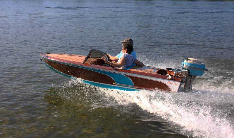 With a second person aboard, the 11' Squirt loses only a few miles per hour.