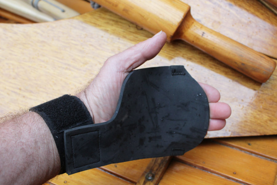 The Pro Model is recommended by NewGrip for rowing: the wrist strap is said to relieve the strain that causes sore wrists and carpal tunnel syndrome. The wrist strap is made of cotton webbing for better comfort against the skin.