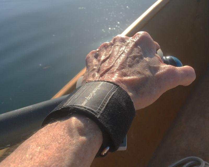 During the author's four-hour row in hot weather, the NewGrip pads prevented the hot spots that would have caused blisters.