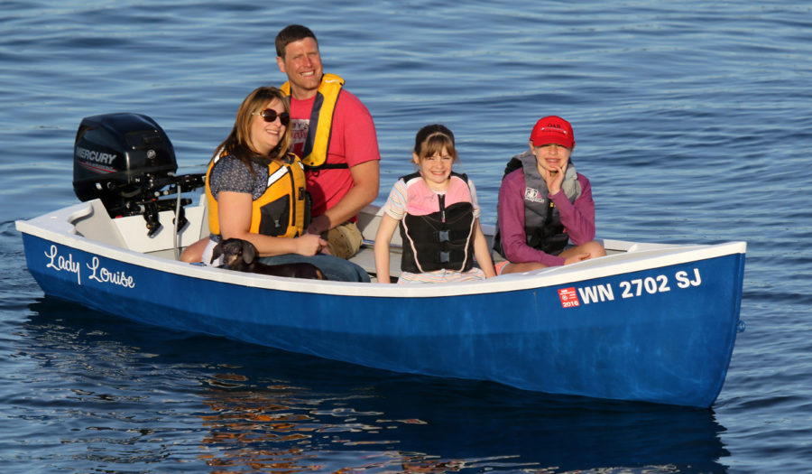 The Candlefish has comfortable seating for the family and plenty of freeboard.